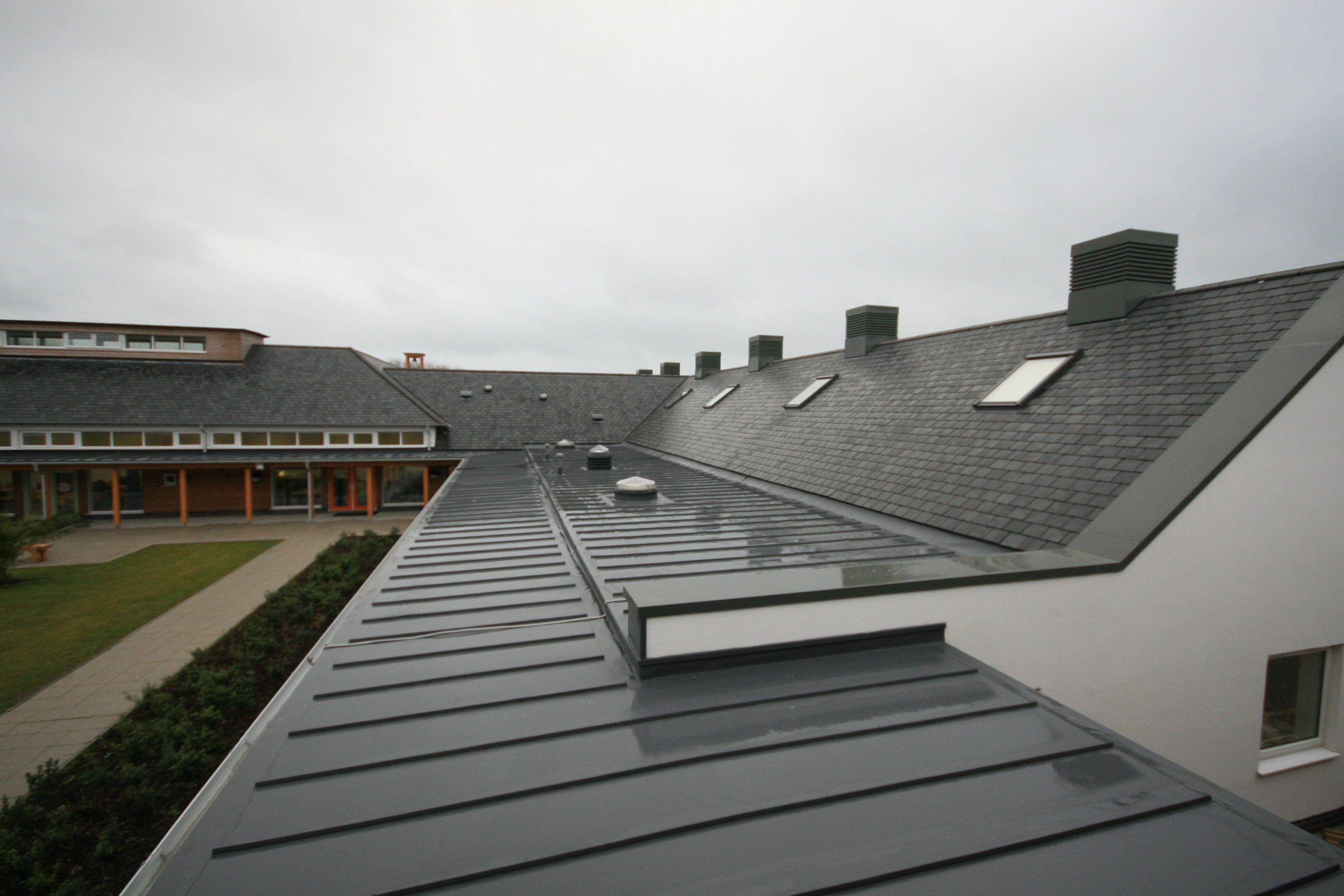Sarnafil Membrane Roof With Applied Standing Seam
