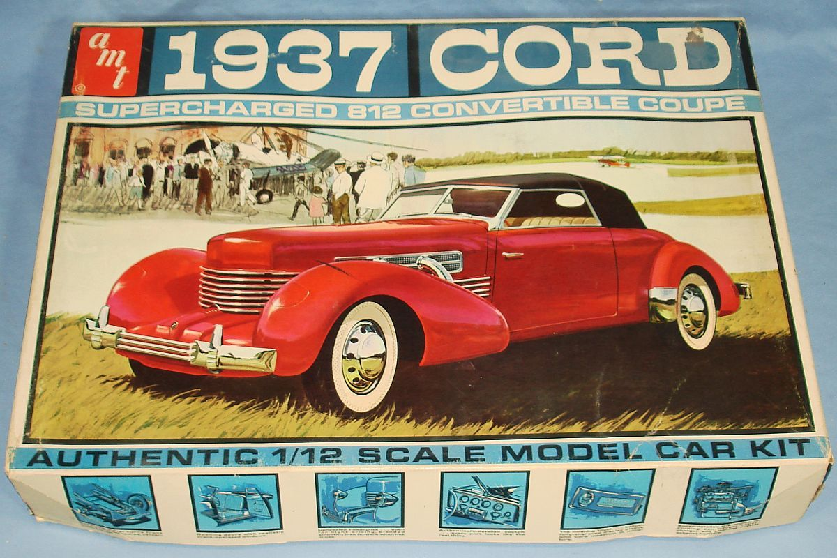hobby kits 1 12 scale. AMT 1/12 Scale 1937 Cord Super Charged Convertible Coupe · Model CarModel KitsHobby Hobby Kits 1 12 D