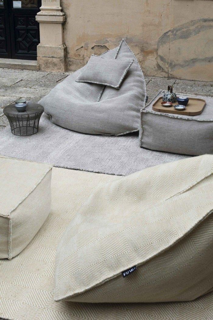 einrichtungsideen mit sitzsack sitzgelegenheit, sitzsack outdoor - 20 trendige einrichtungsideen für den modernen, Ideen entwickeln