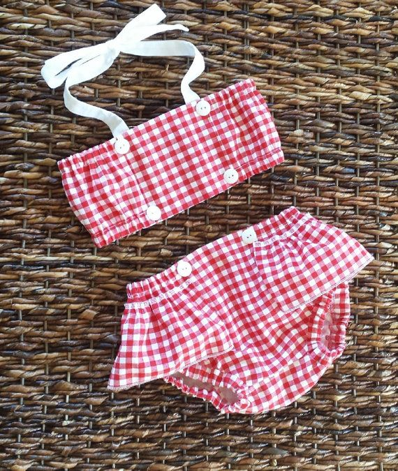 SUNSUIT 2 PIECE baby toddler crop top and by SimpleKindAndGood