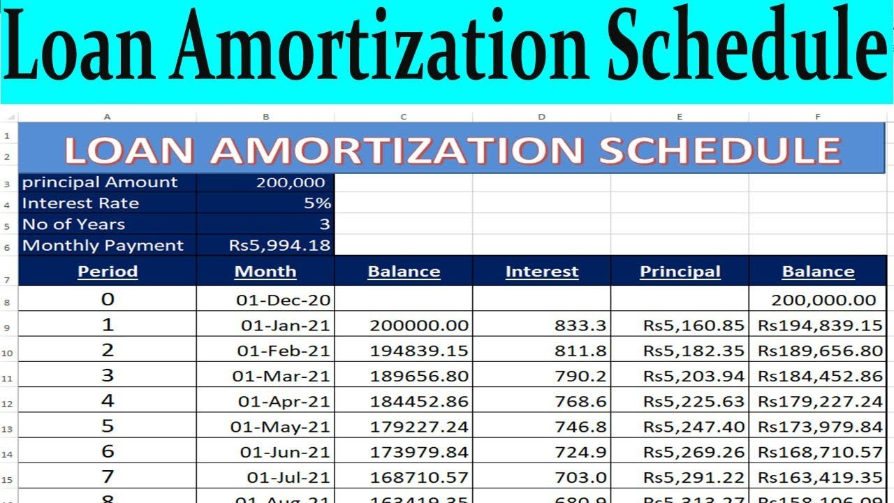 Excel Loan Amortization Schedule In Excel By Learning Center In Urdu Hindi Amortization Schedule Learning Centers Excel