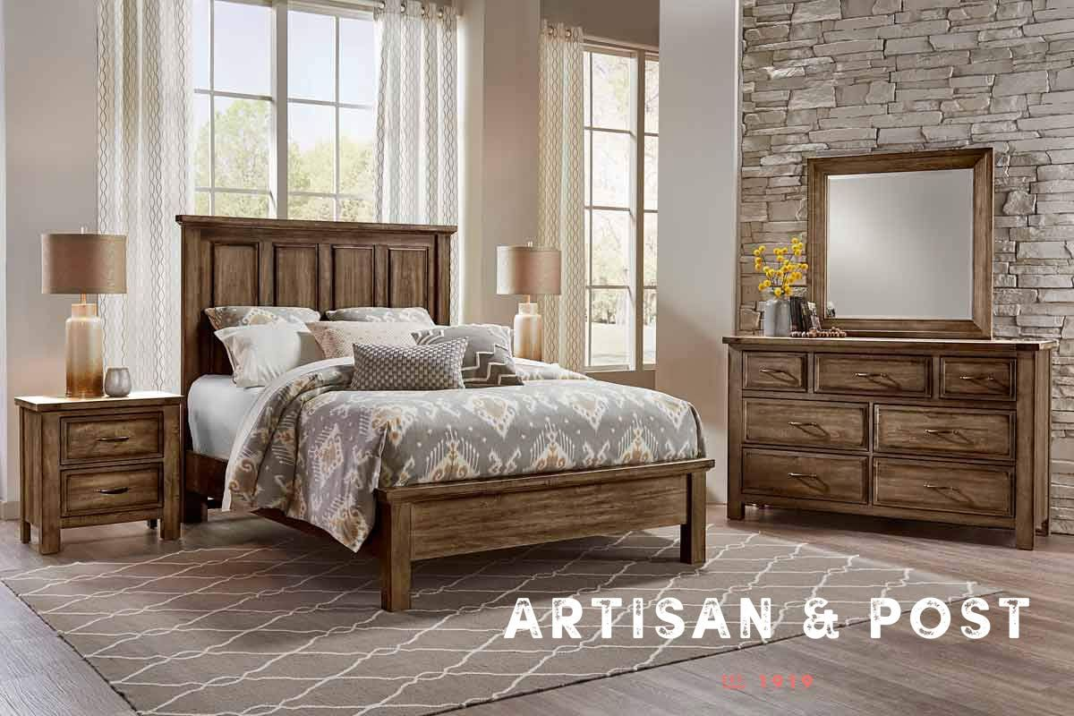 Solid Maple Bedroom Furniture New Artisan Post Bedroom Collection Just Arrived The Maple Road