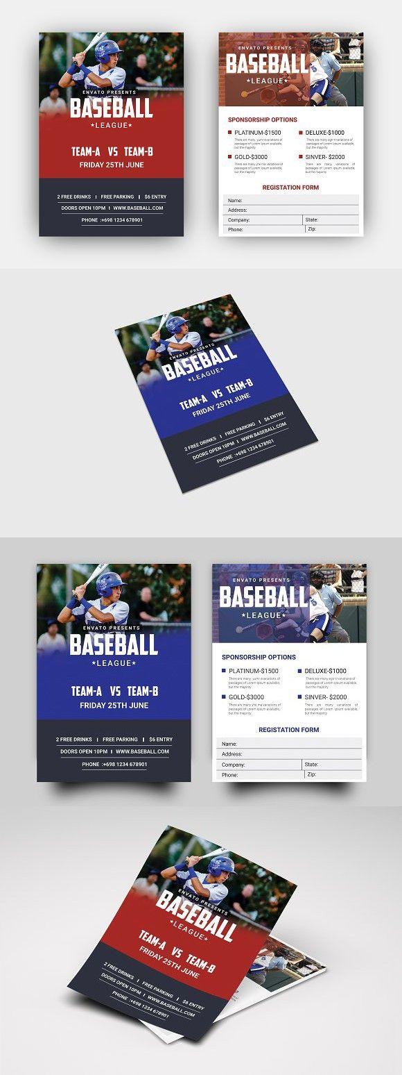 baseball flyer company flyers business flyer flyer design flyer template