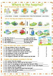 english worksheet city places prepositions of place ni os pinterest prepositions. Black Bedroom Furniture Sets. Home Design Ideas