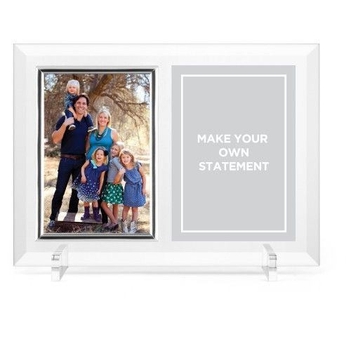 Make Your Own Statement Glass Frame, 11x8 Engraved Glass Frame, - No ...