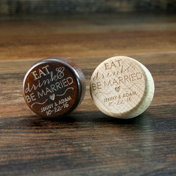 Bulk Personalized Wine Stopper Engraved Wood Cork Wedding Favors Gift T Corks Eat Drink And Be Married Customized