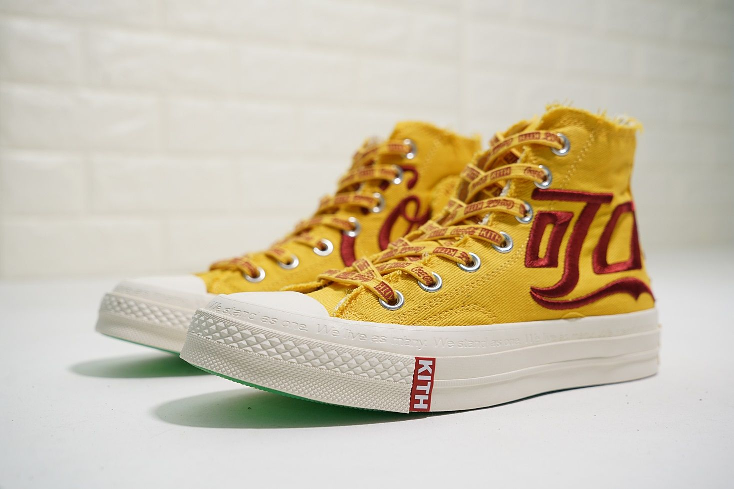 1d0210d0a4cd KITH X COCA COLA CONVERSE CHUCK TAYLOR ALL STAR YELLOW RED162985C ...