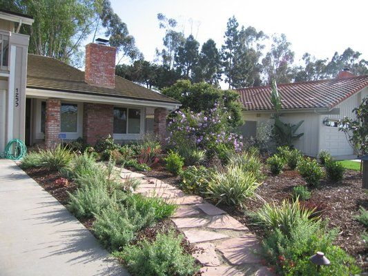Yards No Grass Landscape | Arts And Crafts Style Front Yard With No Lawn | Yelp | Landscaping ...