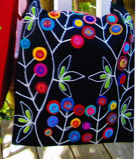Pattern Messenger Bag Fabulous Wool Applique Bag Pattern Flying Fish   eBay
