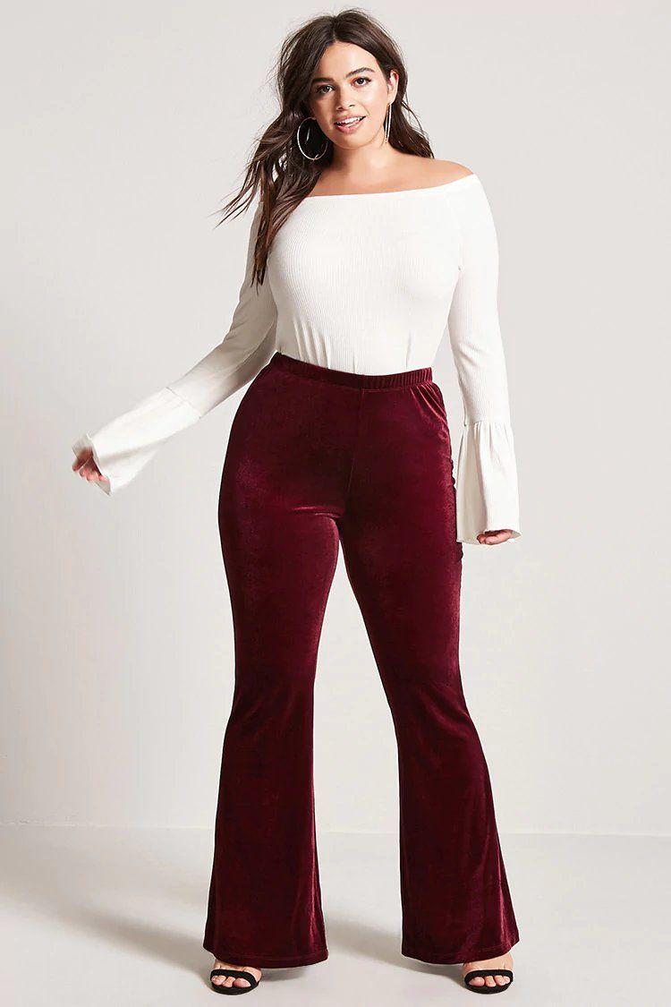 cd0826e2bc4 Product Name Plus Size Velvet Flared Pants