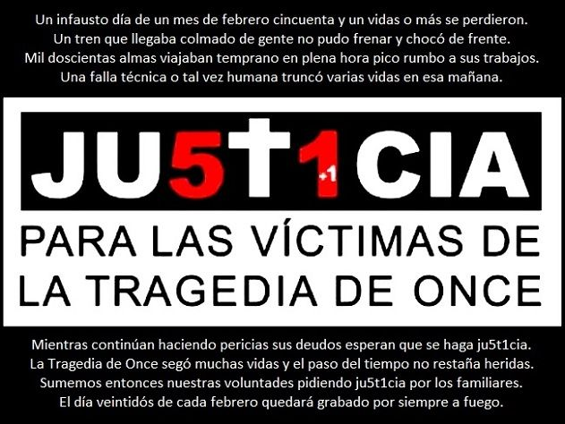 Mi Universar: Ju5t1cia para las víctimas de Once