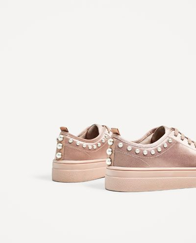 8261bc1d07 SATIN SNEAKERS WITH PEARLS-SHOES-WOMAN-COLLECTION AW 17