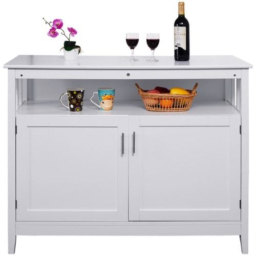 Fantastic Costway Modern Kitchen Storage Cabinet Buffet Server Table Home Interior And Landscaping Ferensignezvosmurscom