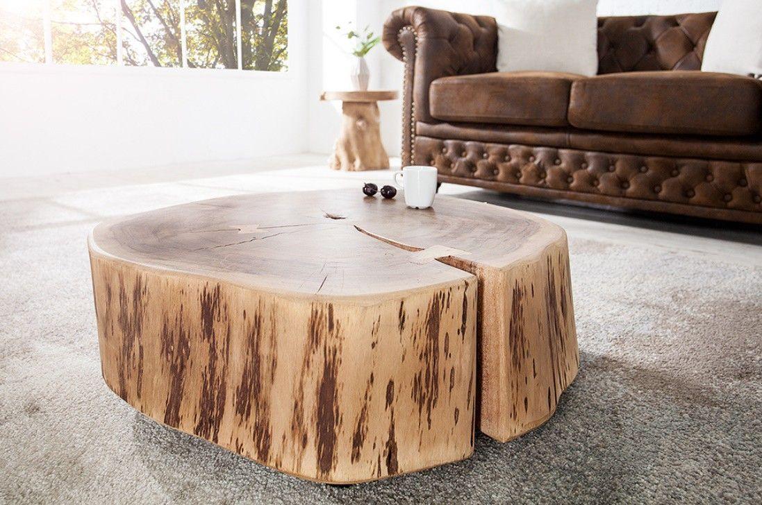 Table Basse Design Bois Massif Acacia Sur Roulette Goa 60 Cm Table Basse Bois Brut Table Basse Design Bois Table Basse