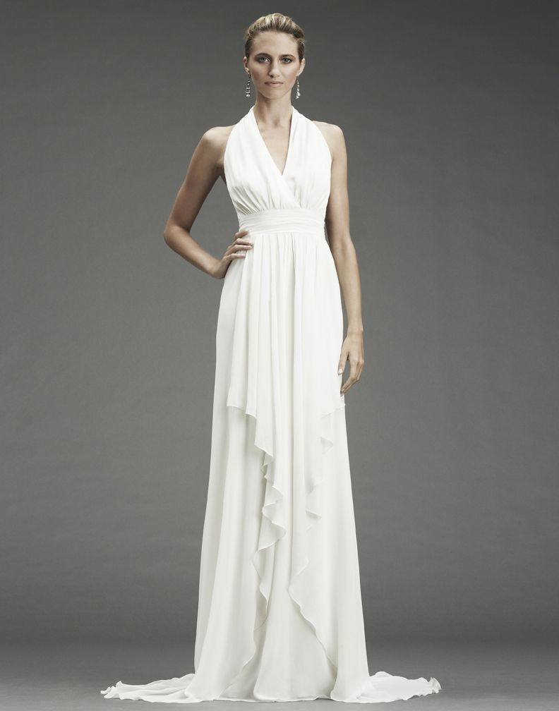 Silk sheath wedding dress  Nicole Miller uJenniferu size    Recently Sold at Emerald City