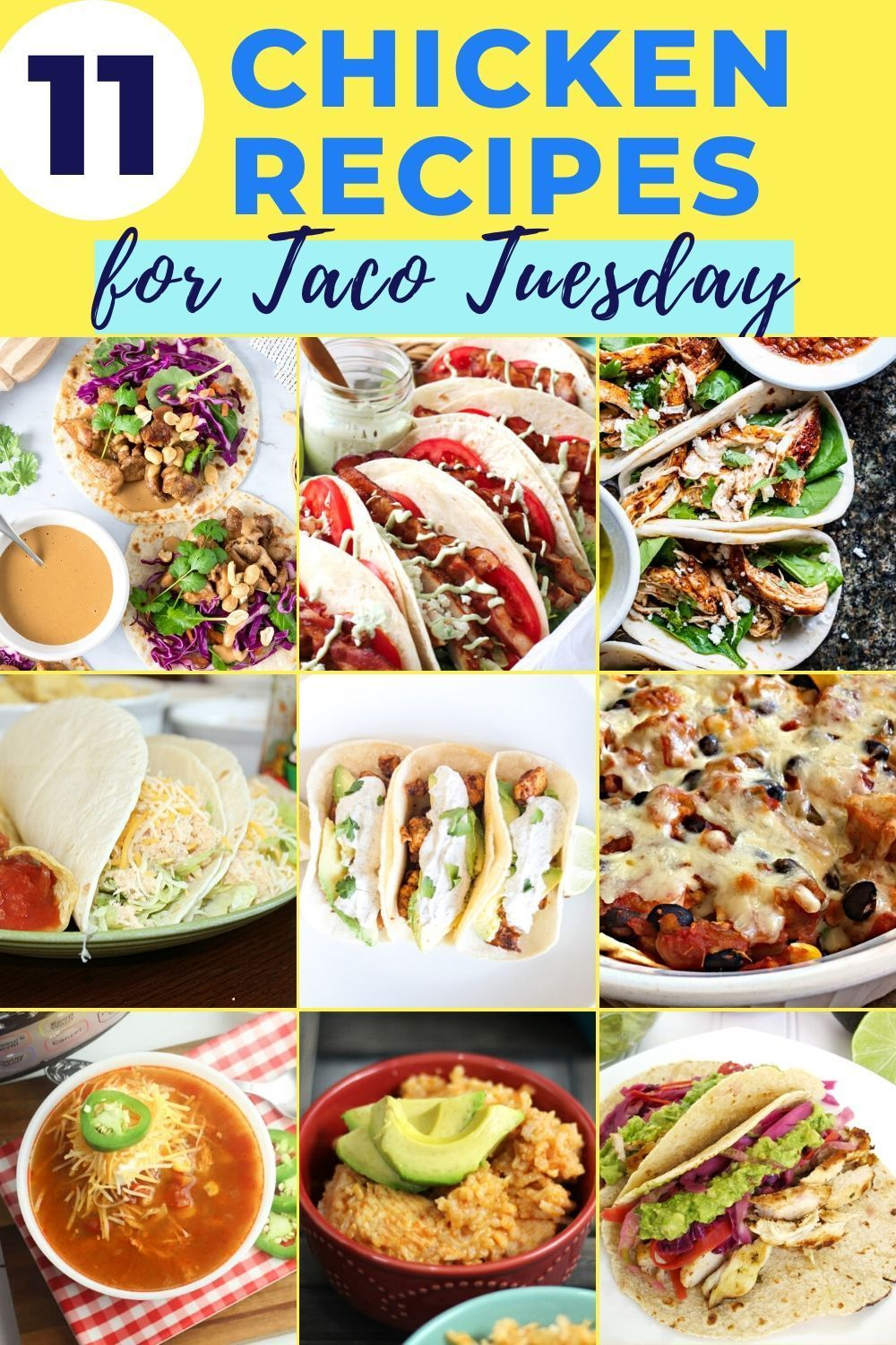 Chicken Recipes for Taco Tuesday | Fourganic Sisters