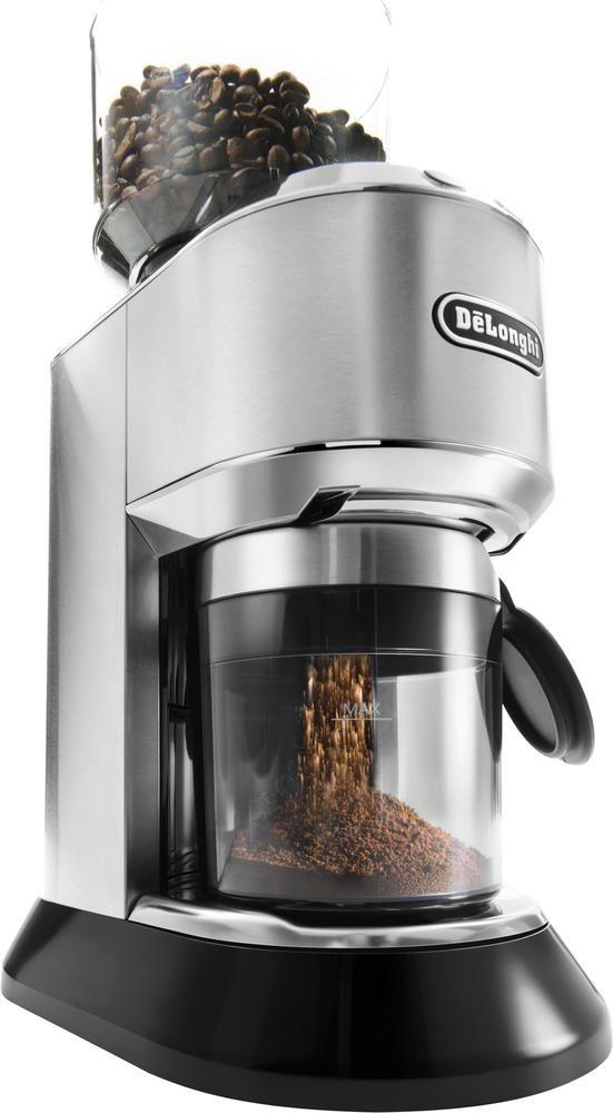Delonghi Dedica 14 Cup Coffee Grinder Stainless Steel Kg521m Best Buy Coffee Bean Grinder Coffee Grinder Delonghi