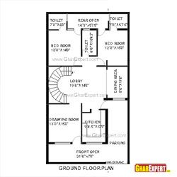 House plan of 30 feet by 60 feet plot 1800 squre feet for Home design in 100 gaj