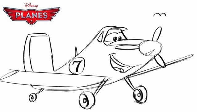 How To Draw Dusty Crophopper From Disney Planes Disney Planes