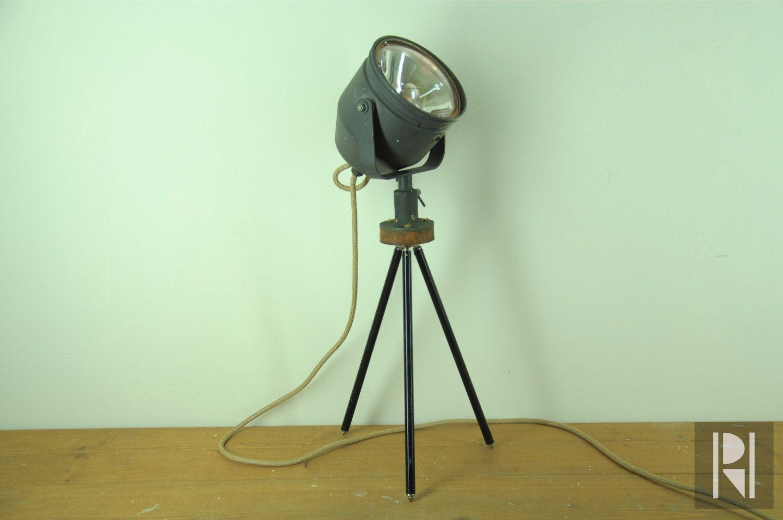 Staande lamp op statief tafel lamp tafellamp vintage