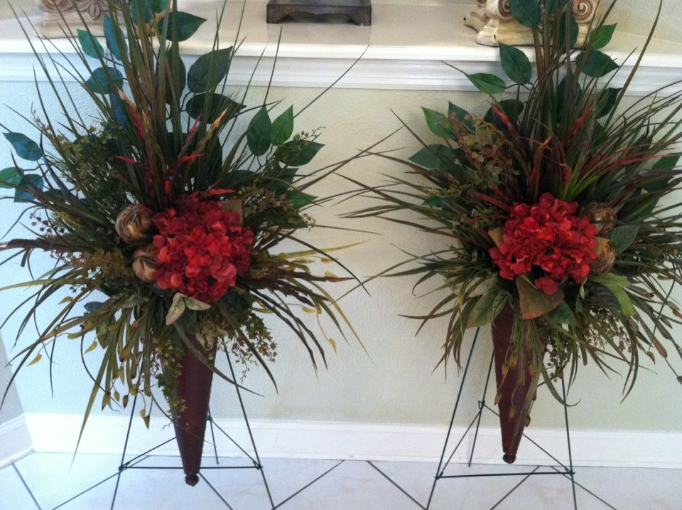 Greatwood floral designs silk flower gallery wall sconces with red greatwood floral designs silk flower gallery wall sconces with red hydrangeas feather balls mightylinksfo