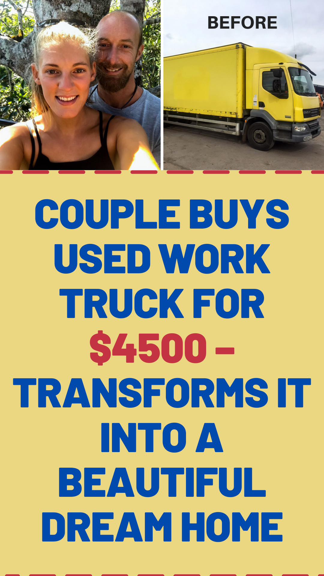 Couple buys used work truck for $4500 – transforms