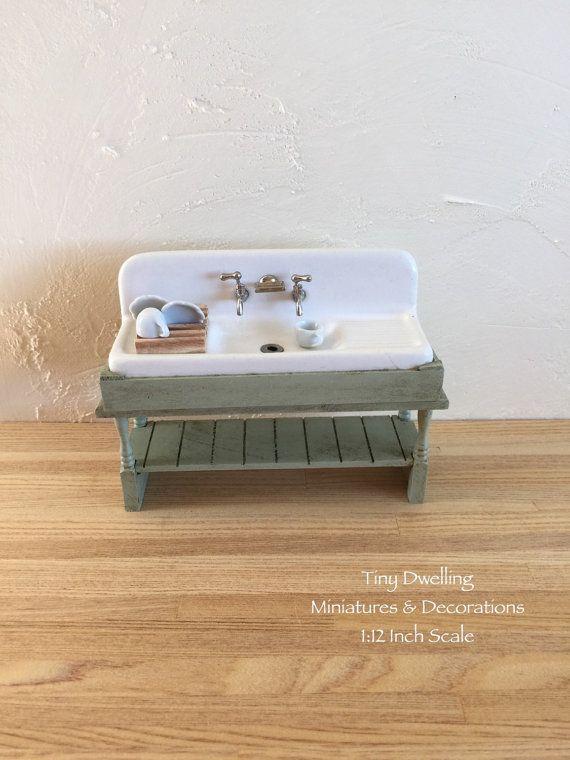 Miniature Sink Dish Sink Dollhouse Kitchen Sink Dollhouse Sink