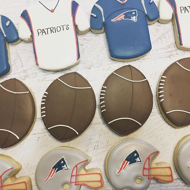 New England Patriots Cookies For A Special Little Boys