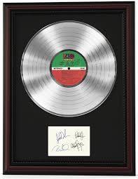 Led Zeppelin Cherrywood Framed Platinum Lp Record Ltd Signature Display C3 In 2021 Record Display Lp Record Display Display