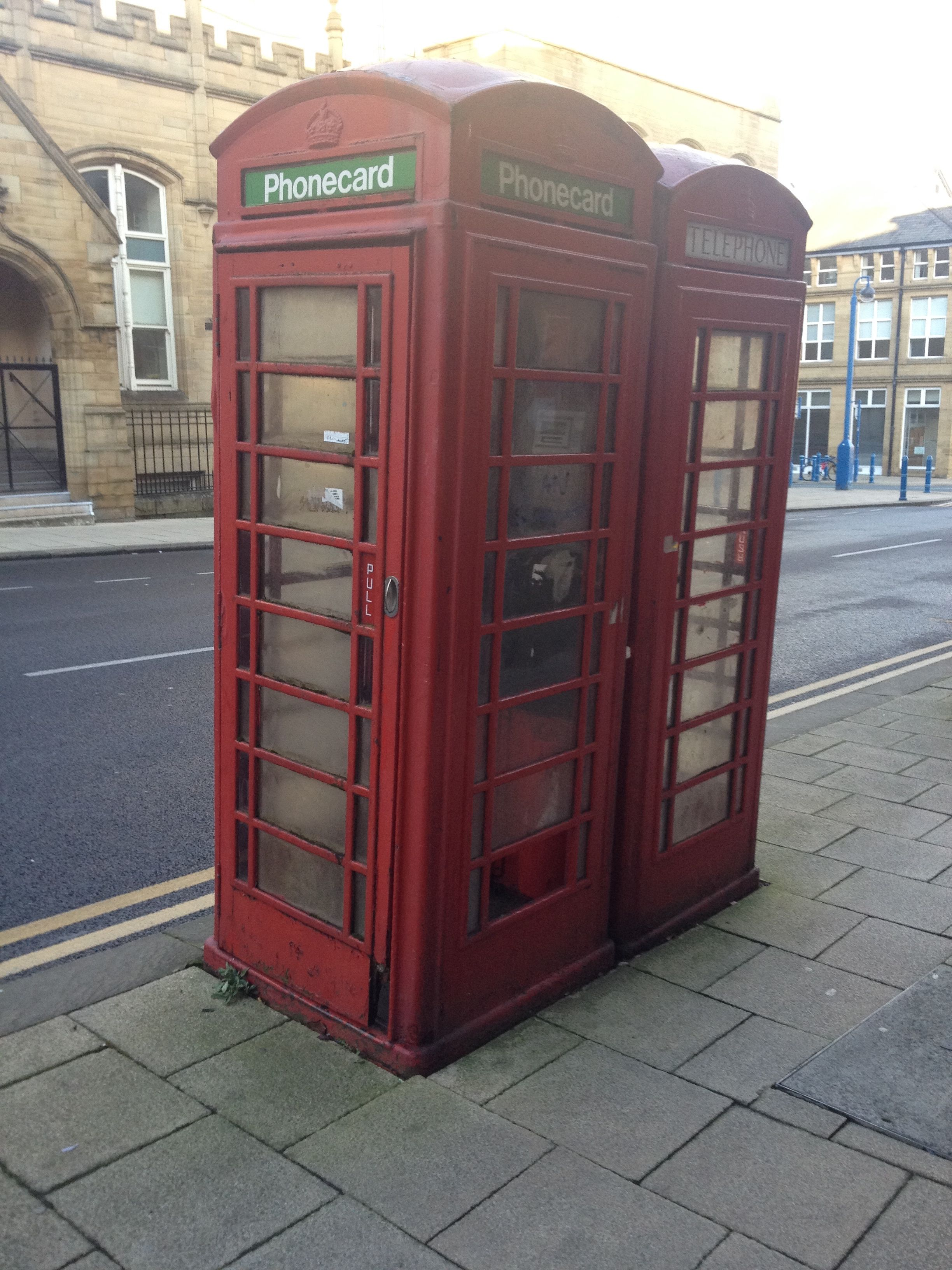 Phone box repurposed to use Phonecards Reuseable Design