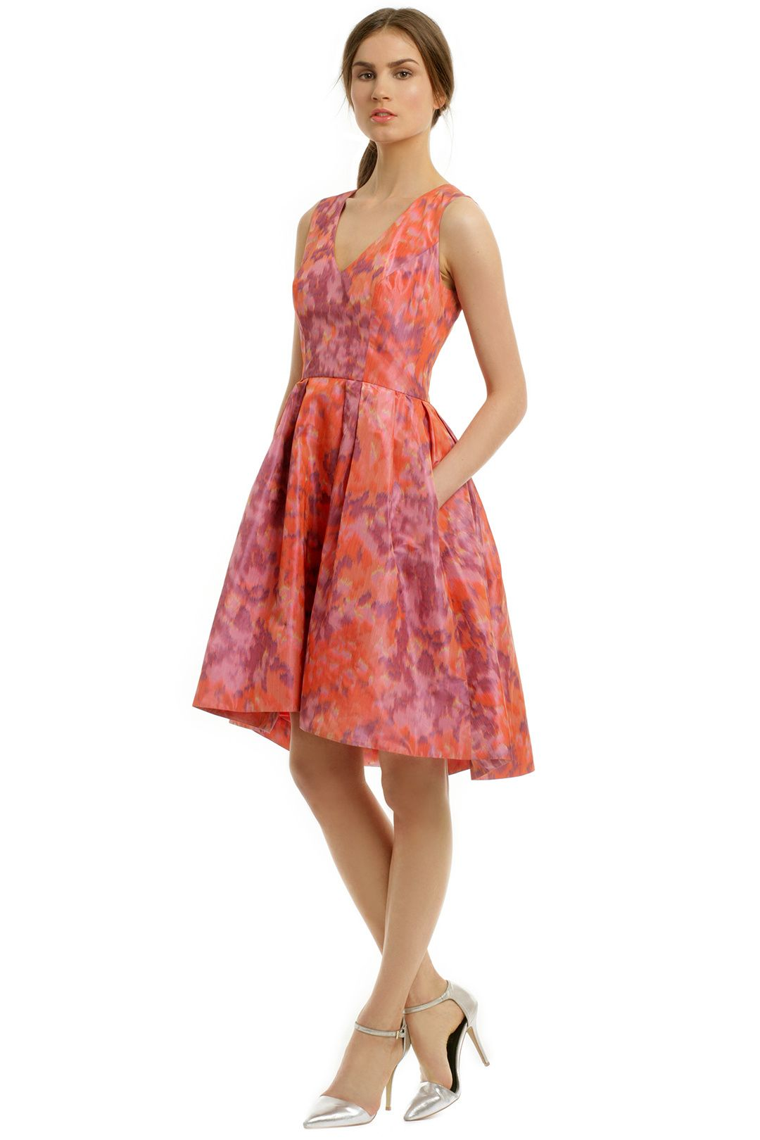 floral dresses wedding guest attire monique lhuillier