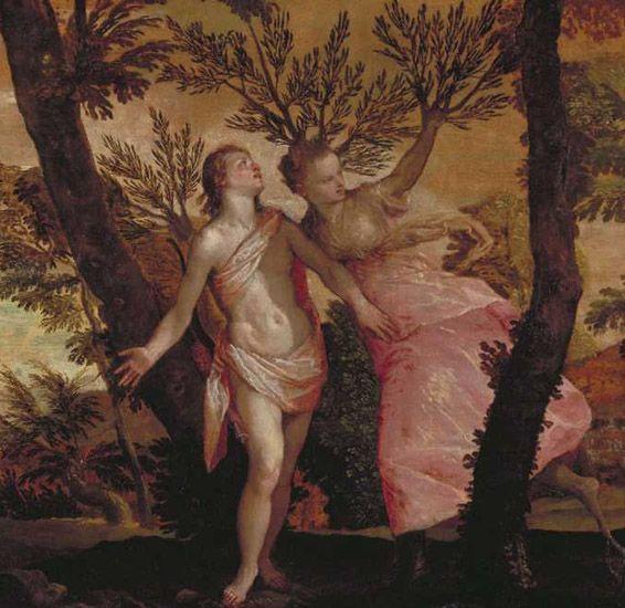 Paolo Veronese 1528-1588 Italy  Apollo and Daphne.