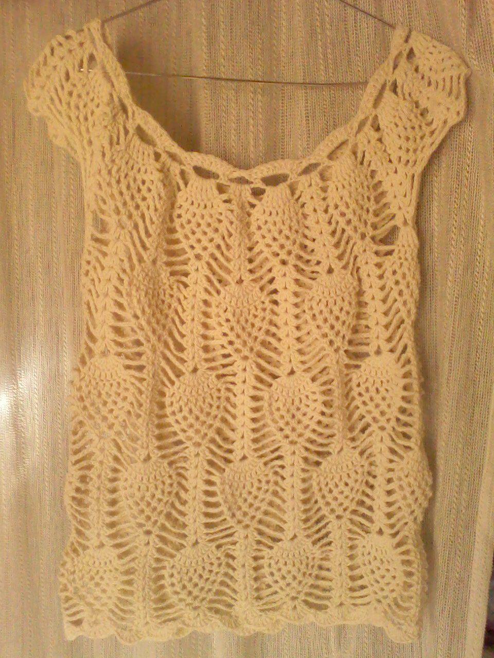 Acá les muestro otro modelo de remeras caladas a crochet para despedir al  verano  Y este es el patrón que pude escanear por fin 5eccb782d7b28