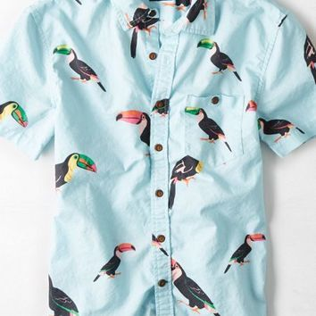 AEO Men's Patterned Short Sleeve Button from American Eagle ...