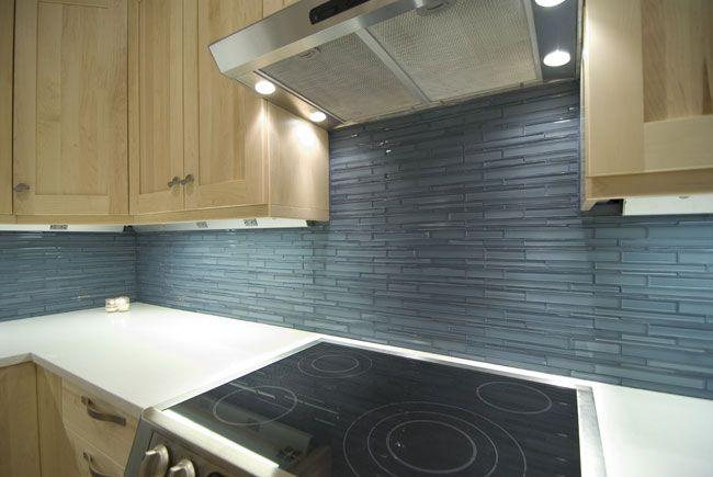 Horizontal Glass Tile Backsplash thin glass tile for backsplash | kitchen | pinterest | remodeled