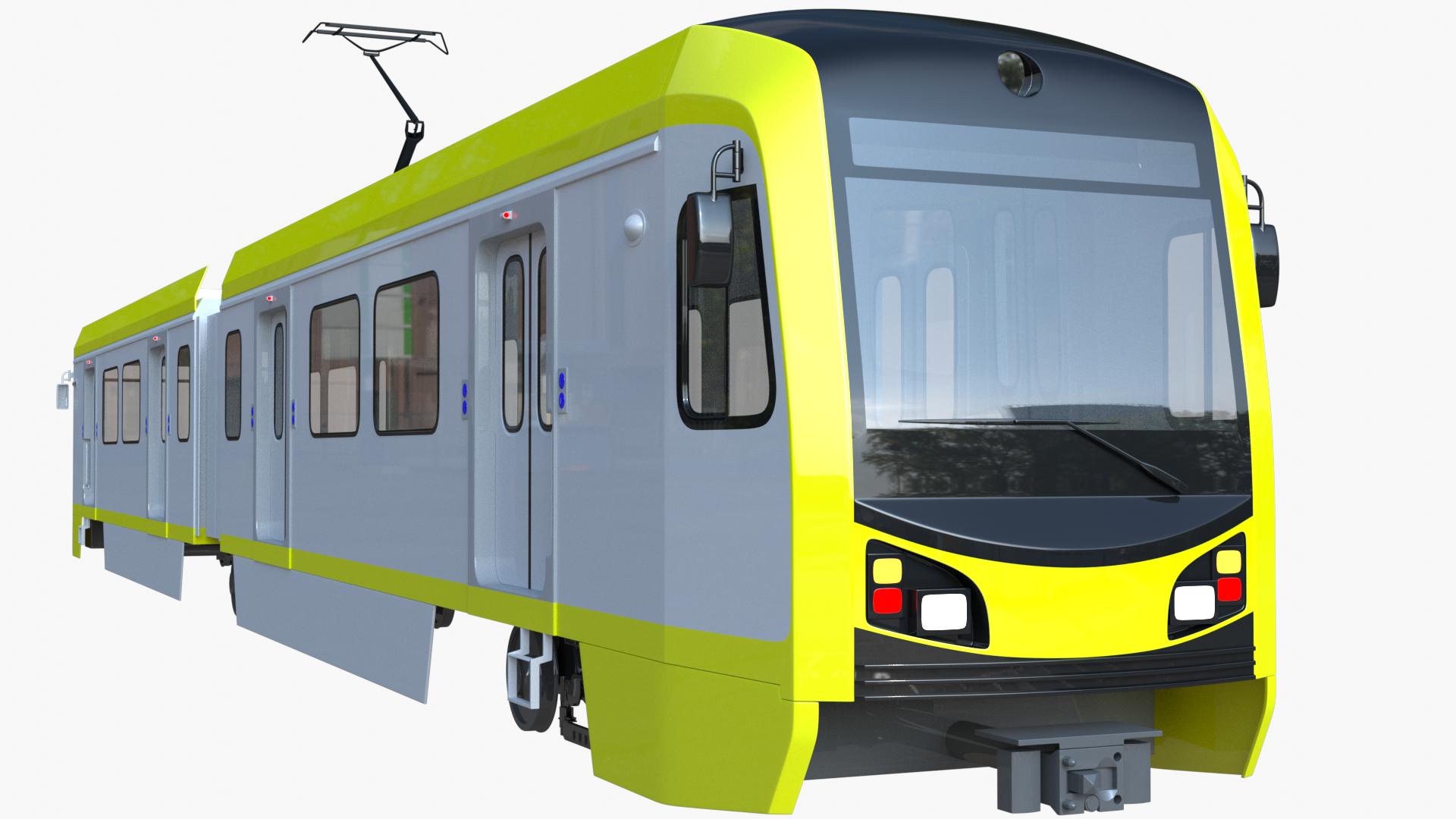 La Metro Train 3d Model La Metro Light Rail Train