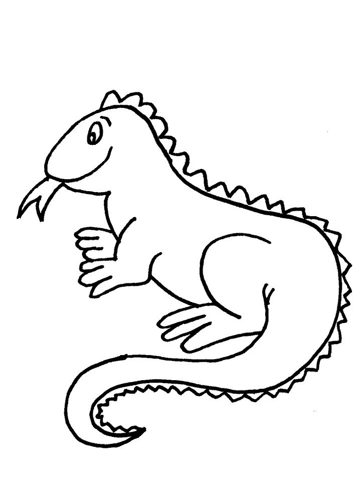 iguana colouring pages