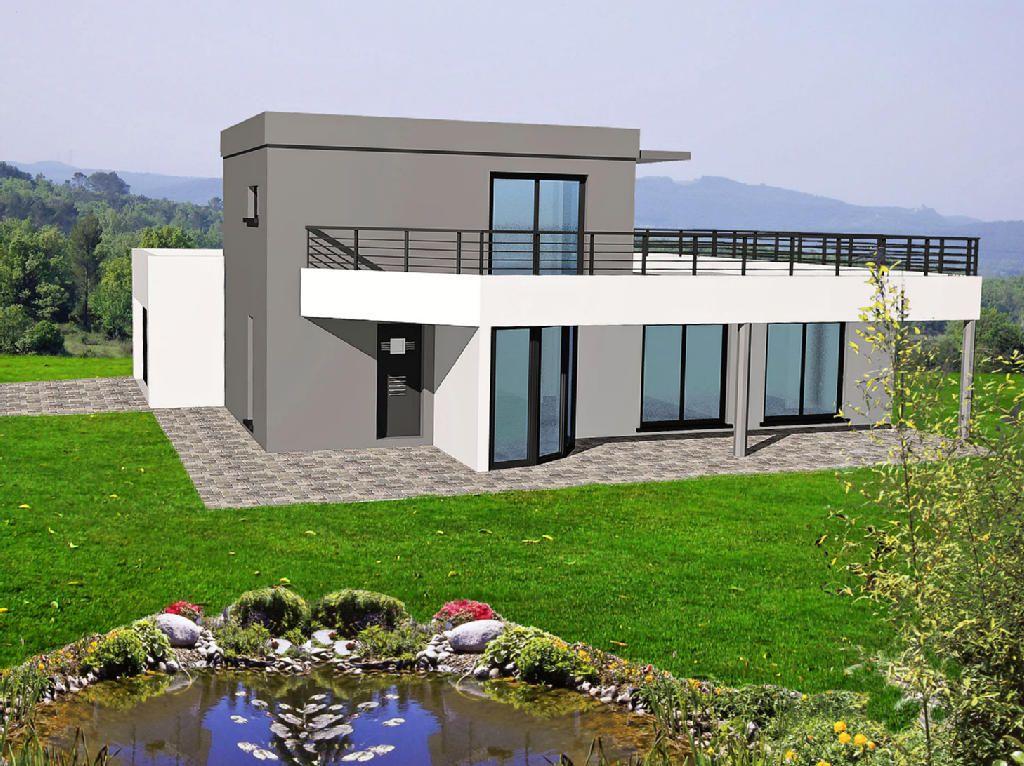 Maison Toit Plat Begi  Balcon Et Terrasse  Idées Pour La
