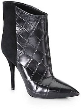 discount really clearance footaction B Brian Atwood Embossed Leather Ankle Boots Dnfc8c