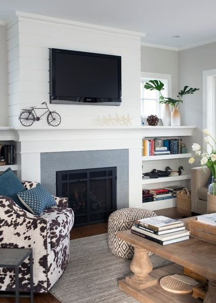 Room Showcase Designs Recommended Mdf Living: Simple MDF Above The Fire Place! Beach Style By Bensonwood