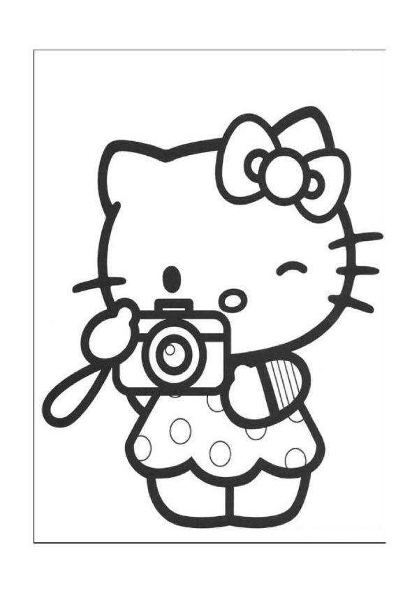 hello kitty kleurplaten voor kinderen. kleurplaat en afdrukken