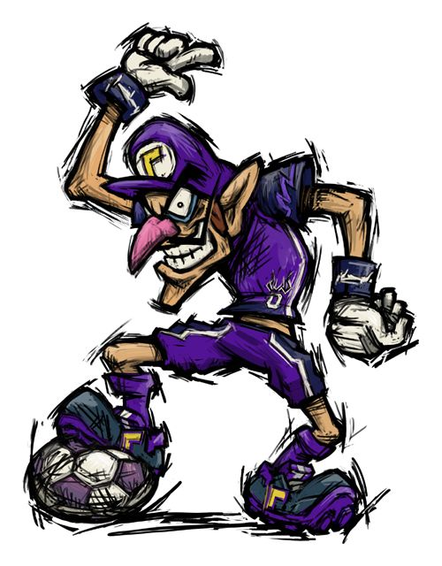 Waluigi muscle. Mario strikers charged super