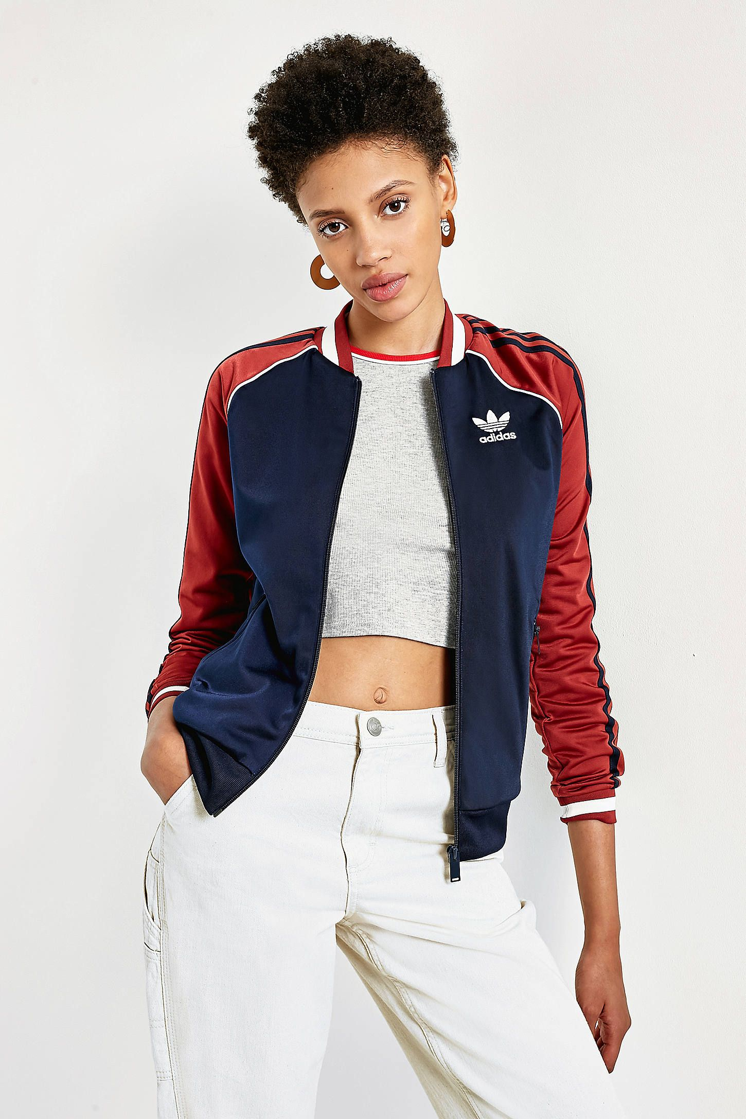 Adidas Originals Blue And Red Trefoil Track Jacket Adidas Jacket