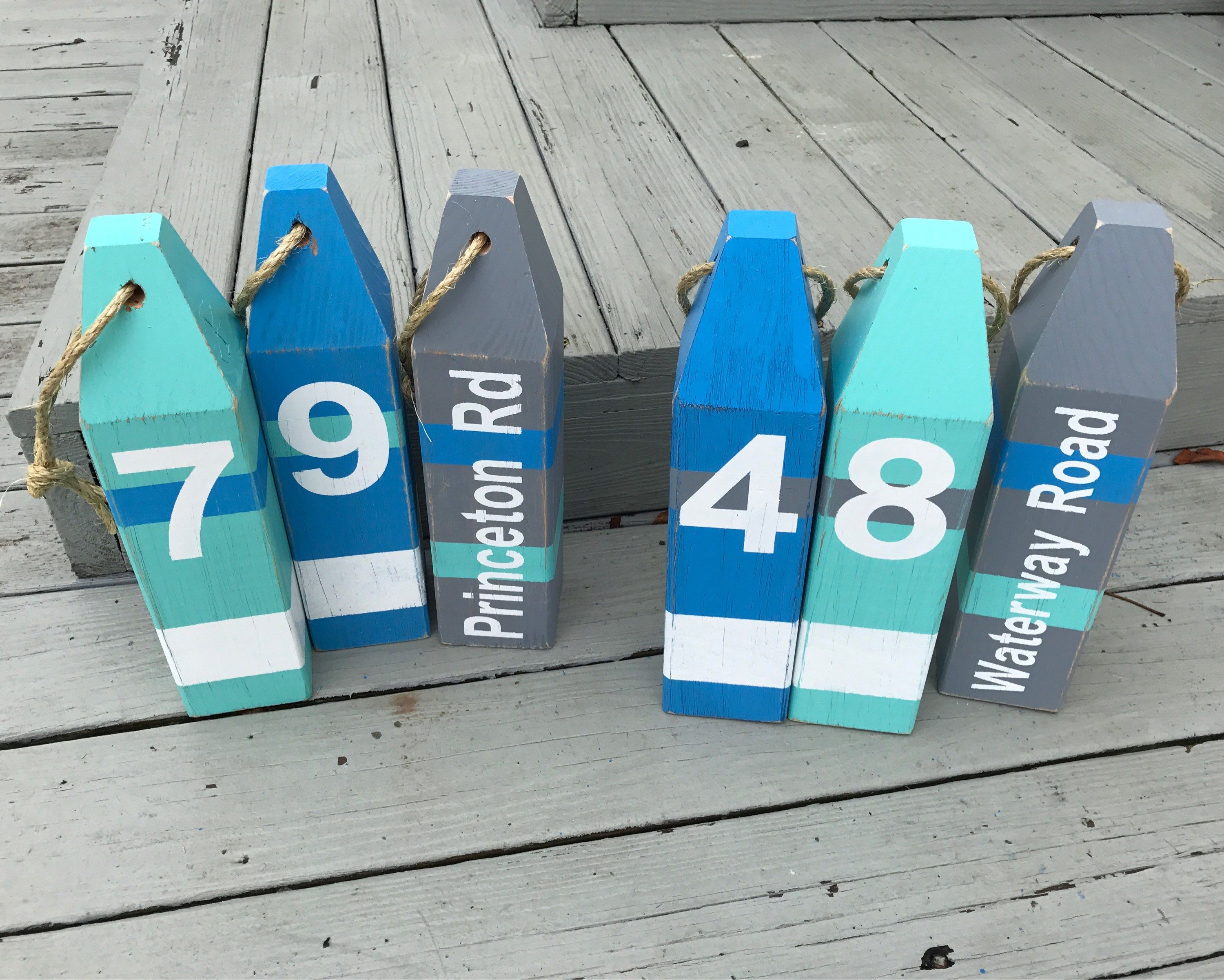 Best Kitchen Gallery: House Numbers Lobster Buoys Nautical Decor Buoy Decor Ocean of Ocean House Numbers on rachelxblog.com