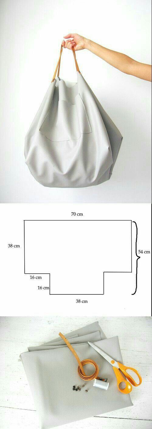 Partilhamos aqui duas sugestões de carteiras grandes. Boas Costuras ...