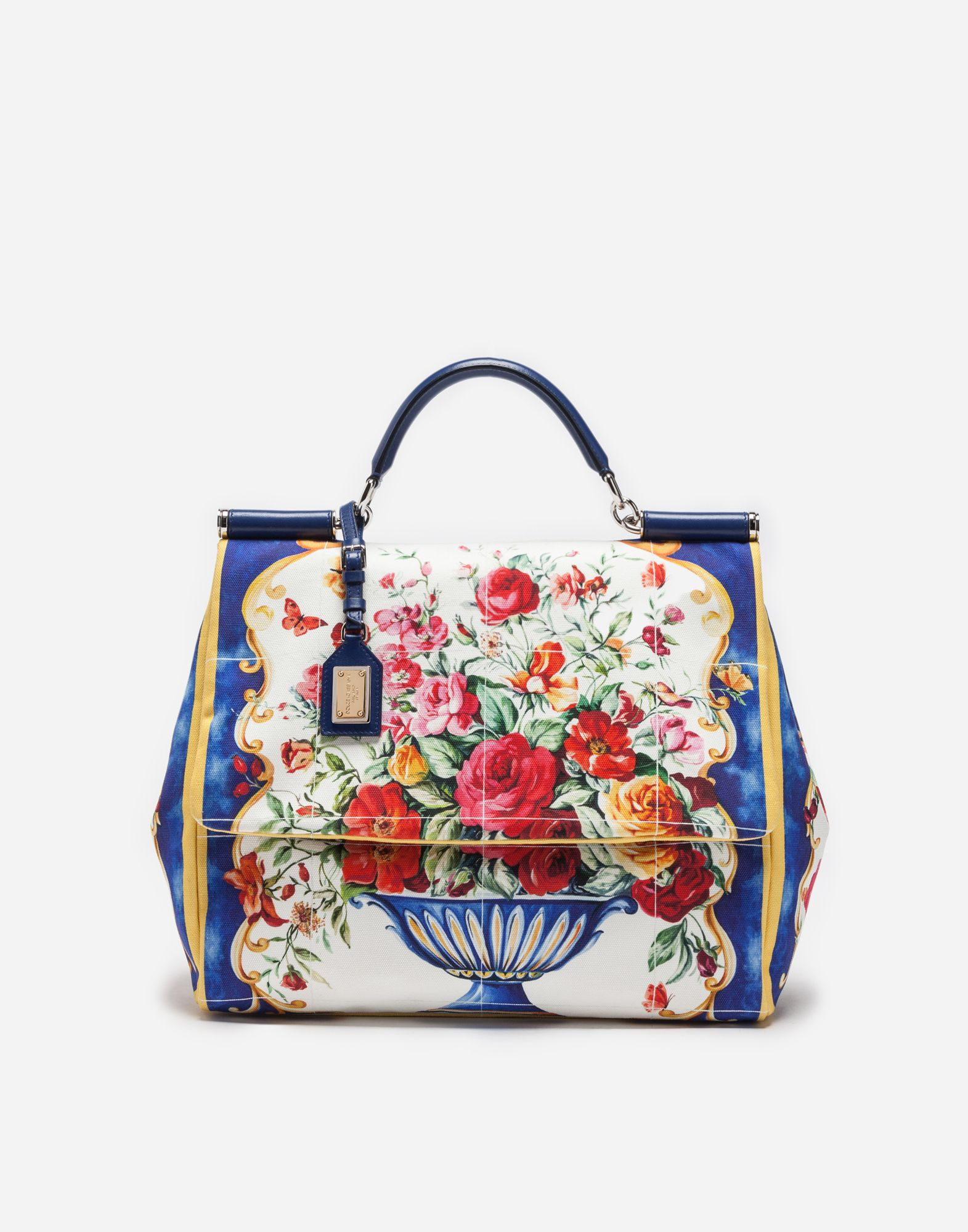88274bc117b D G   SICILY SOFT BAG IN PRINTED CANVAS. D G   SICILY SOFT BAG IN PRINTED  CANVAS Dolce Gabbana ...