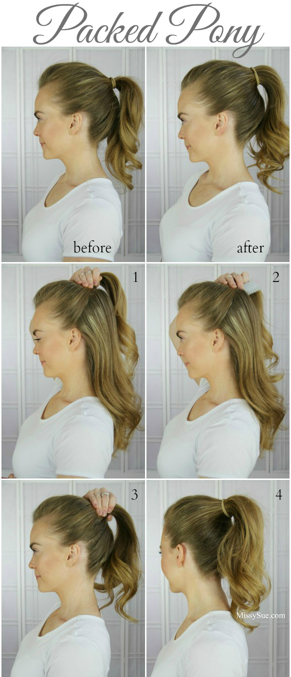 Double braid wrapped roll bun full ponytail ponytail and hair style