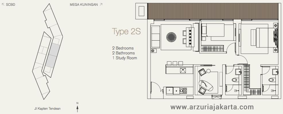 Arzuria Jakarta Apartment Type Apartment Arzuria Tendean Unit