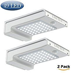 cinoton solar lights 49 led outdoor security lighting sensor wall