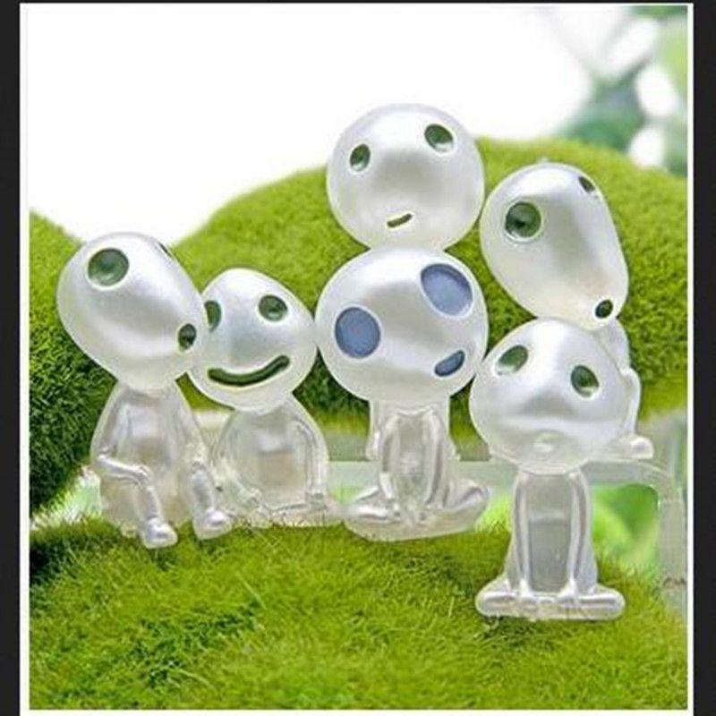 10//Pack Mini Resin Luminous Tree Elves Doll Glow in The Dark Ornament Gift